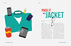 Pack it in a Jacket Conceptual Spread