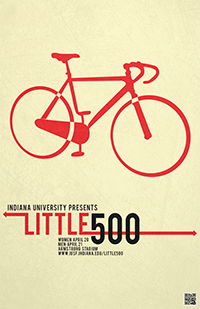Little 500 Olly Moss-inspired Poster